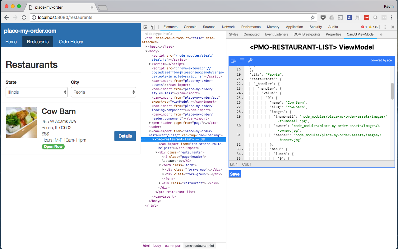 The CanJS Devtools ViewModel Editor